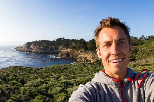 selfie on the coast
