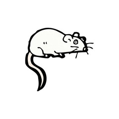 cartoon white mouse