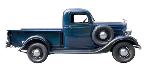 Blue vintage pickup truck from 1930s Wall mural