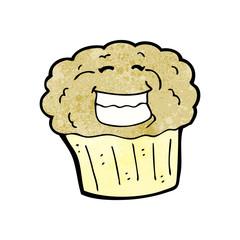cartoon grinning muffin