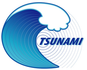 Tsunami, earthquake epicenter, ocean wave crest, emergency, disaster, danger