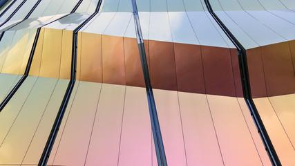 Modern design facade Architecture material details Wall mural