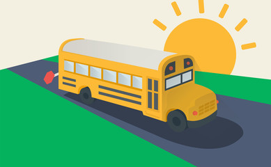School bus, side view.