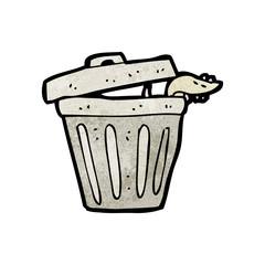 cartoon garbage can