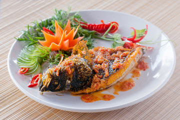 Fish with sauce