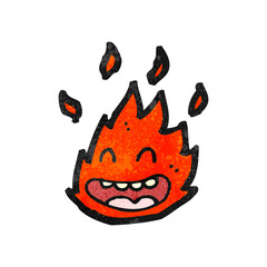 cartoon burning fire