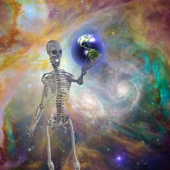 Skelton holds earth