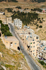 Al Karak (Kerak), view from the Kerak Castle, Jordan