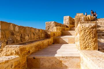 Lower yard in the Kerak Castle, a large crusader castle in Kerak (Al Karak) in Jordan.