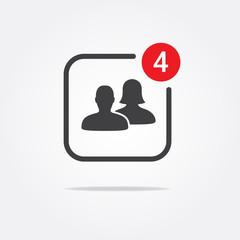 Social Notification Icon
