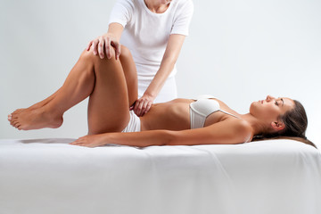 Woman at osteopathic session.