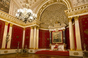 the State Hermitage Museum, the Peter or small throne room, St. Petersburg