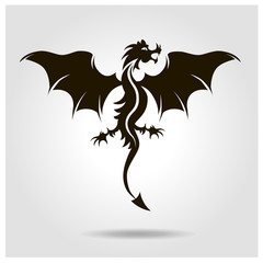 Flying black dragon