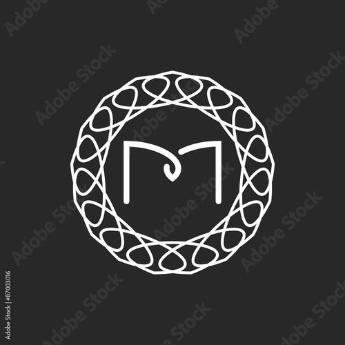 Letter m logo monogram frame mockup for wedding invitation or letter m logo monogram frame mockup for wedding invitation or design of emblem for hotel stopboris Gallery