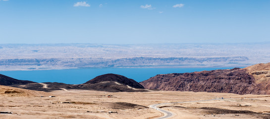 Dead Sea and the nature of a desert in Jordan