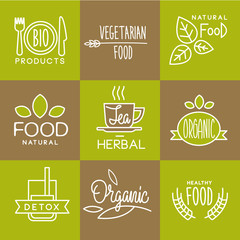 Vector Label Organic and Natural Badges