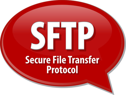 SFTP acronym definition speech bubble illustration