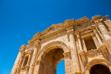Arch of Hadrian, Ancient Roman city of Gerasa, modern Jerash, Jordan