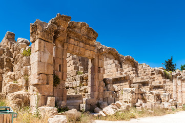 Close view of the ruins of the Ancient Roman city of Gerasa of Antiquity , modern Jerash, Jordan