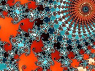 Decorative fractal background in a bright colors