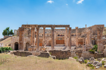Ancient Roman city of Gerasa of Antiquity , modern Jerash, Jordan