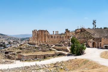 Zeus Temple, Ancient Roman city of Gerasa of Antiquity , modern Jerash, Jordan