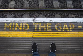 Mind the Gap on a London Underground Platform