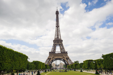 Eiffel Tower in Paris, France. The Eiffel tower was created by Gustave Eiffel and the construction was completed in 1889