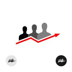 People arrow logo