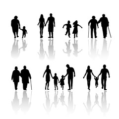 Family's Silhouette. vector file
