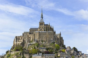 Abbey of Le Mont-Saint-Michel Normandy, France