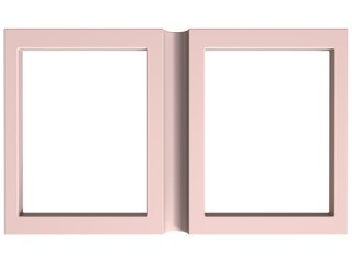 folding photoframe book render in light tones
