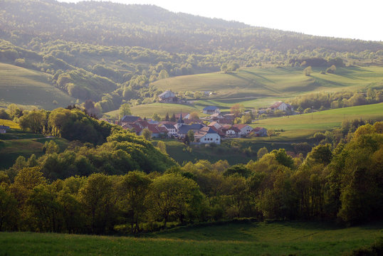 Landscape of Bugey region