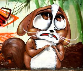Scoiattolino  triste - Graffiti