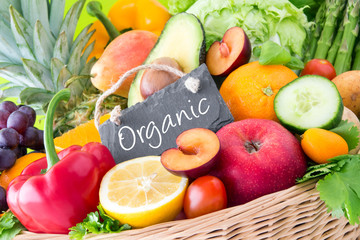 Fototapete - Fruits and vegetables - Organic