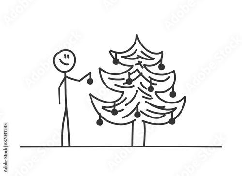 sm christbaum schmuecken ii stockfotos und lizenzfreie vektoren auf bild 87039235. Black Bedroom Furniture Sets. Home Design Ideas