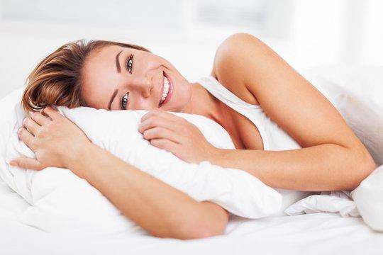 Sleeping, Women, Bed.