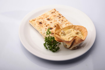 Warm pita bread with stuffing