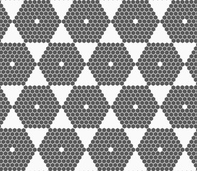 Gray small hexagons forming hexagons