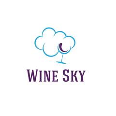 wine sky illustration