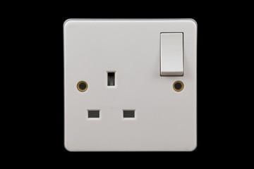UK power socket in off position