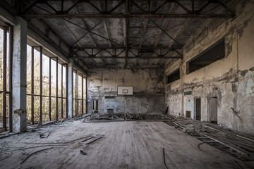 Chernobyl - Abandoned basketball court