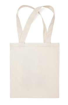 Fabric cotton bag isolated on white background
