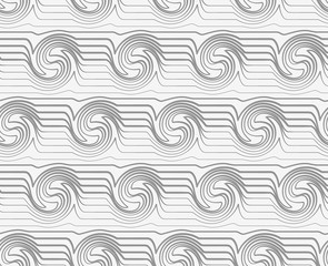 Perforated striped swirling waves