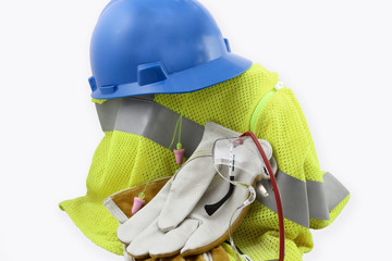 Personal Protective Equipment In a Pile