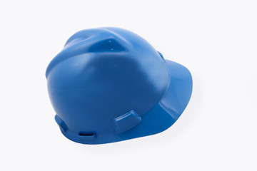 Blue Hardhat Isolated On White