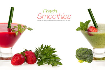 Healthy fruit and vegetable smoothies. Healthy Eating and Diet C