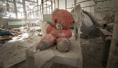 Chernobyl - Teddy bear in abandoned kindergarten