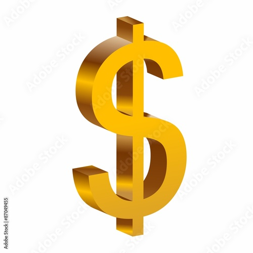 """""""Dollar Sign Icon Gold"""" Stock image and royalty-free ..."""