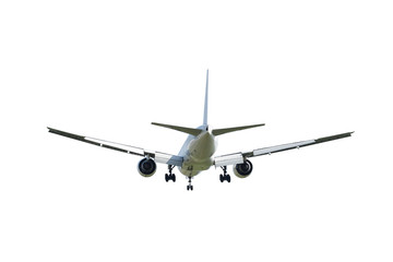 Commercial airplane isolated on white background with clipping p